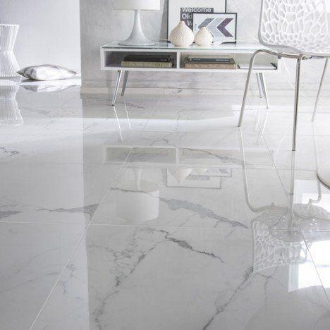 carrelage sol et mur blanc effet marbre rimini x. Black Bedroom Furniture Sets. Home Design Ideas