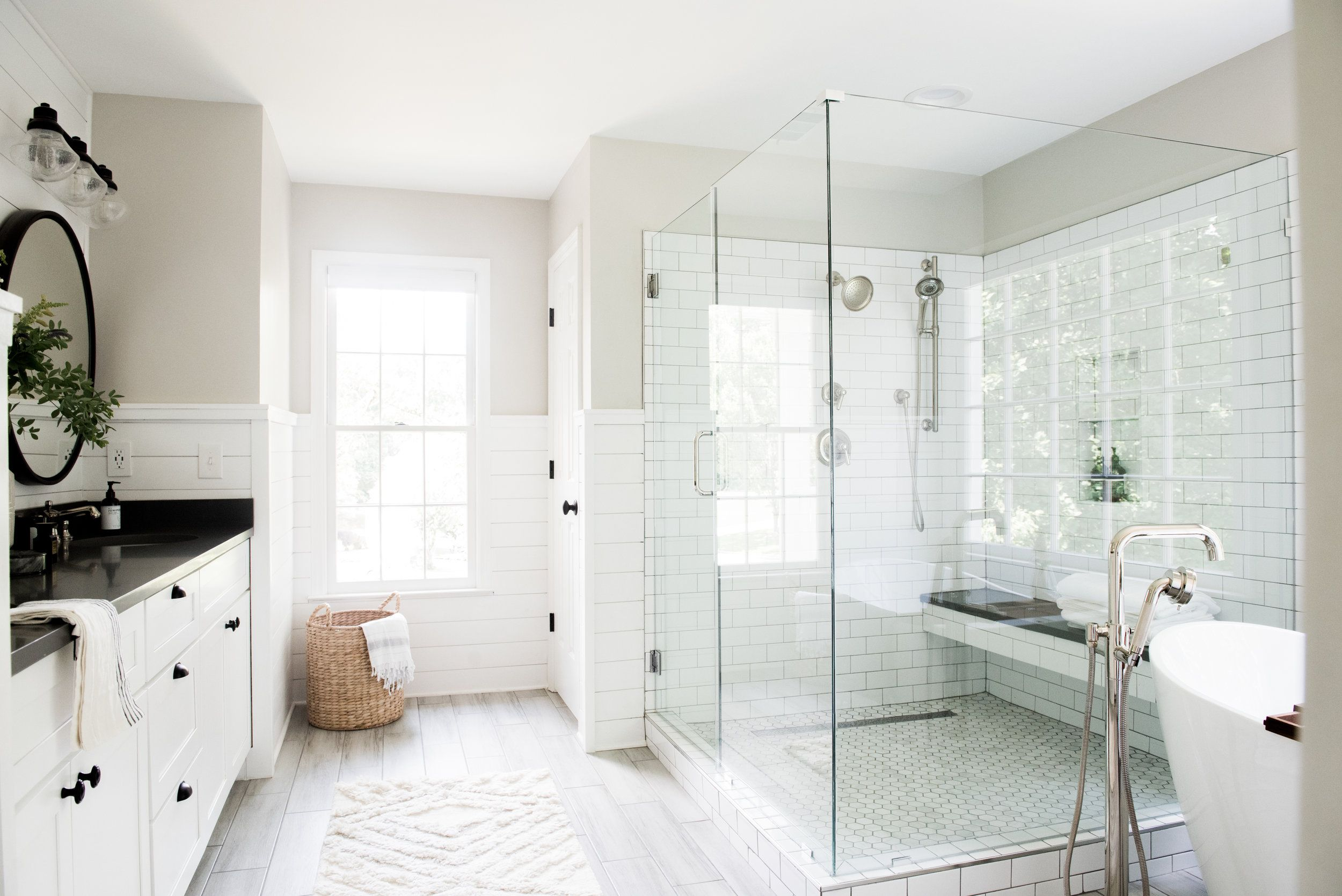 Modern Cozy Farmhouse Master Bathroom Renovation Styling On A