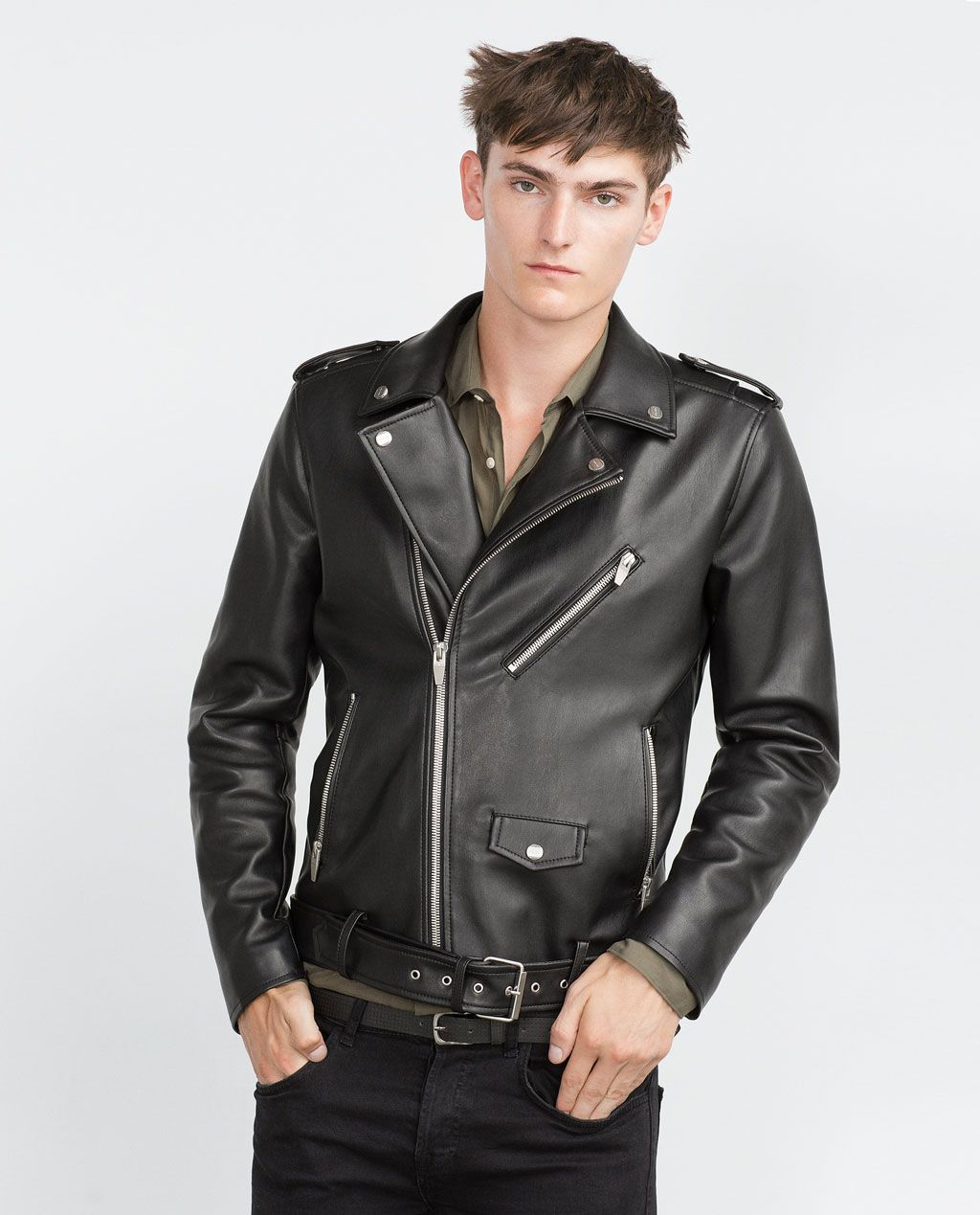 ef05c0d0 ZARA - MAN - BIKER JACKET | Stuff to Buy | Zara biker jacket ...