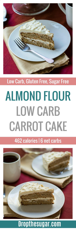 Almond flour low carb carrot cake a delicious sugar free
