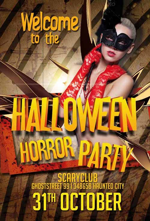 The Free Halloween Horror Club Flyer Template Free Psd Flyers