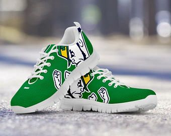 the best attitude a4750 ee36c Notre Dame Football Fan Custom Running Shoes Sneakers Trainers - Ladies +  Mens Sizes