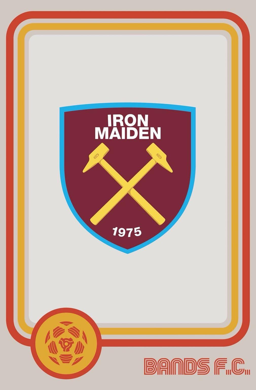 Iron Maiden Logo Sticker Car Bumper Decal 5 X 3