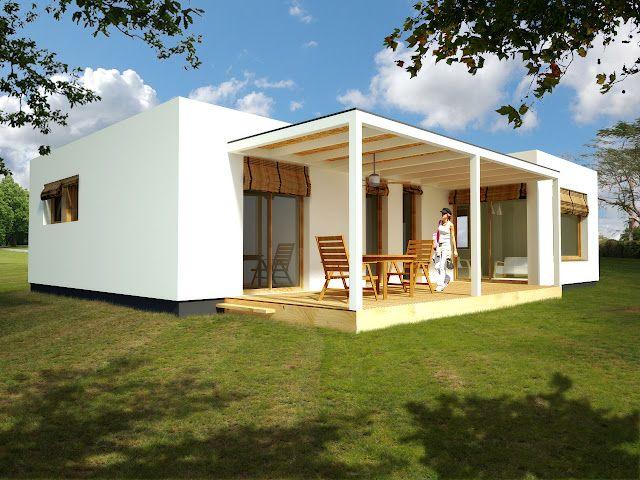 Fachada casa modular prefabricada en ibiza c026 loreto - Casa prefabricada modular ...