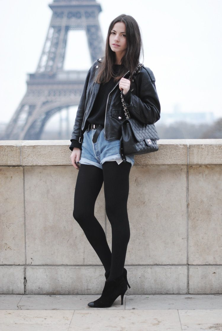 Black Shorts with Leggings
