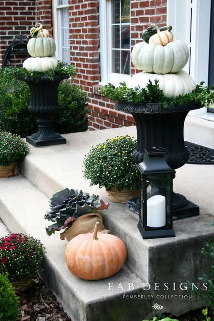 33 Creative Pumpkin Decorating Ideas For Your Front Porch #fallfrontporchdecor
