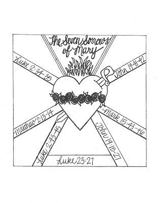 Seven Sorrows and Immaculate Heart of Mary free printables