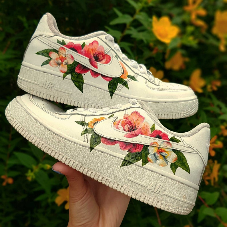 Hand Painted Air Force 1 Trainers