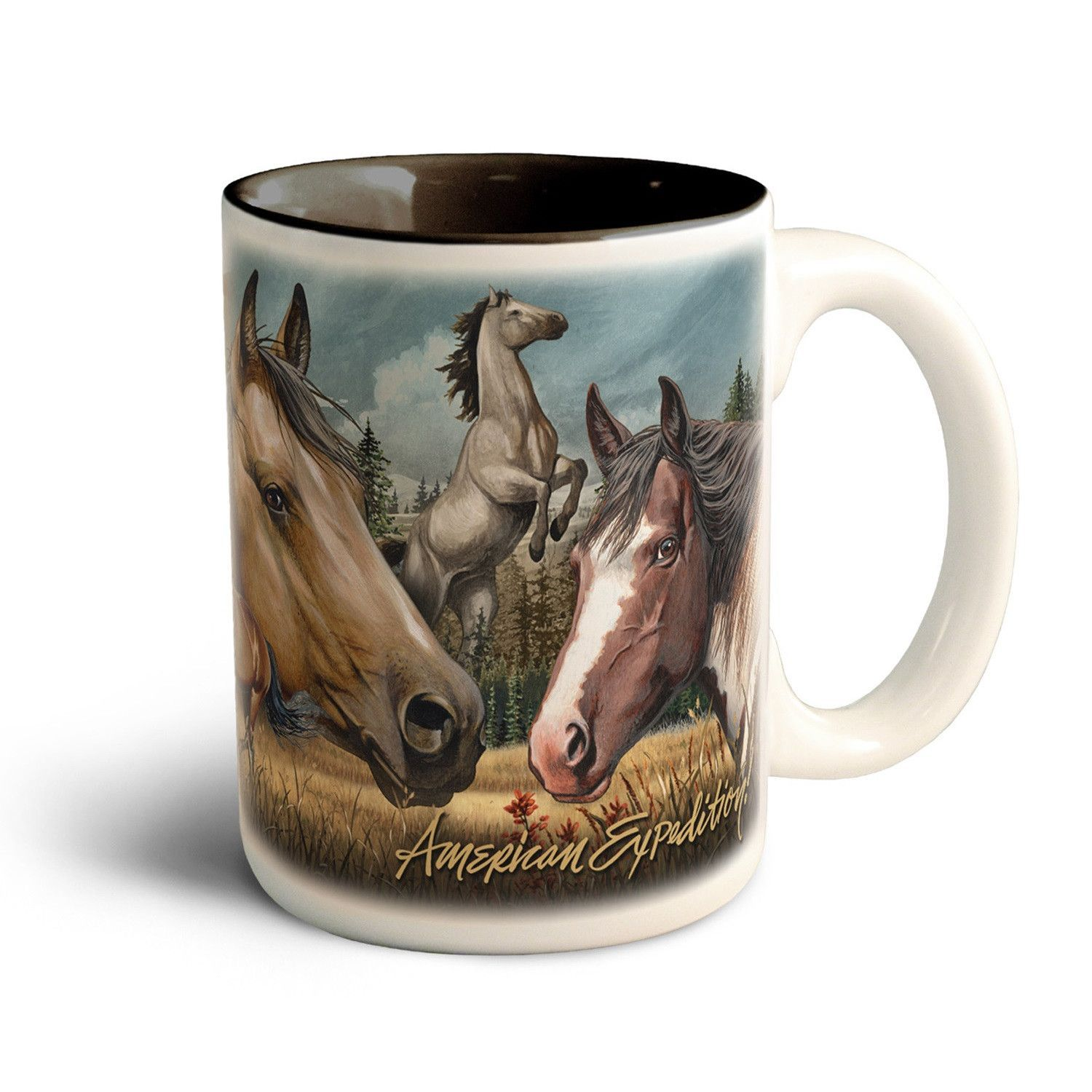American Expedition Large Coffee Mug Mustang Collage