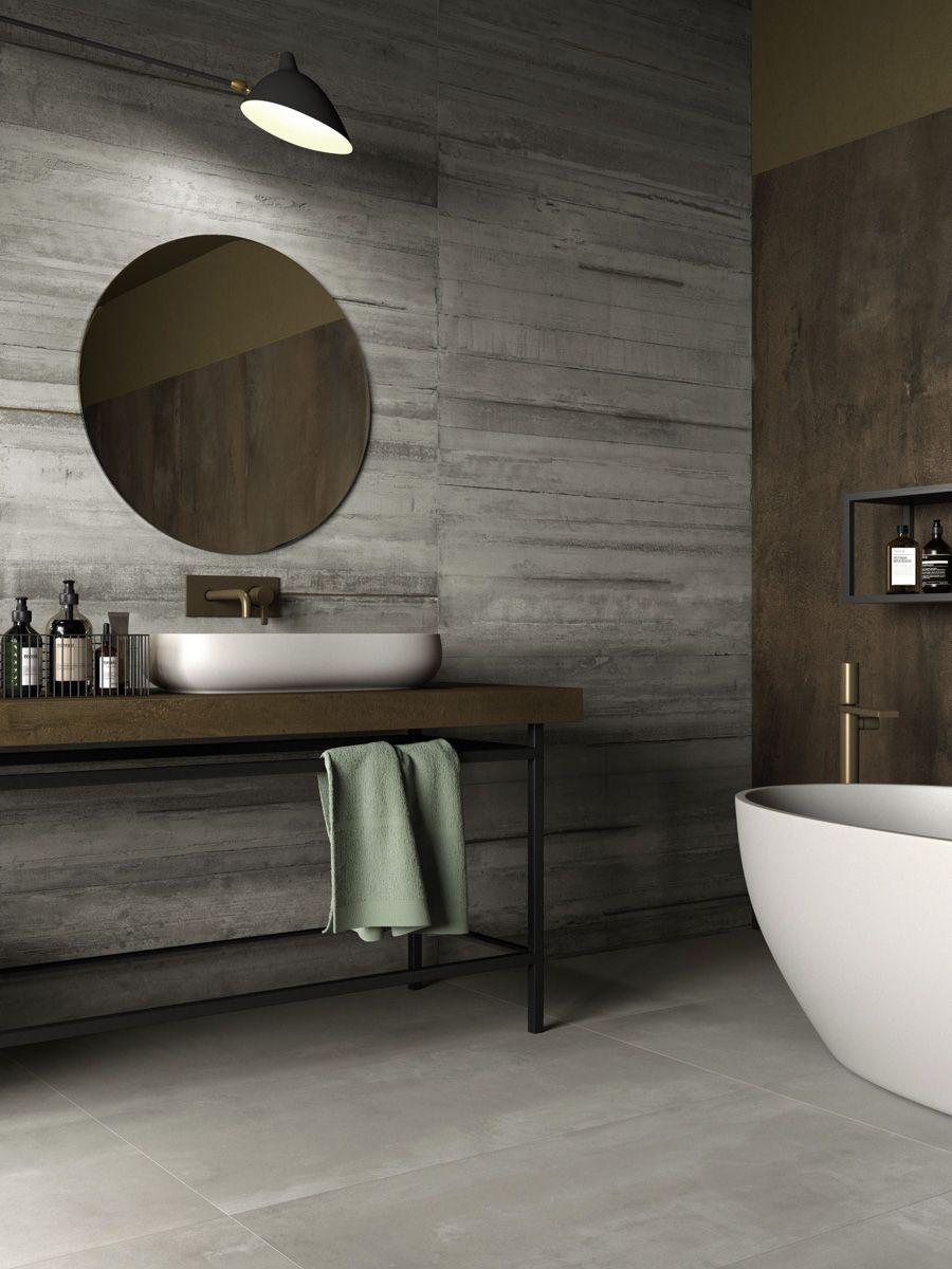 Effetto Cemento Resina Interior Design Loft Bagno Interno Arredamento Bagno