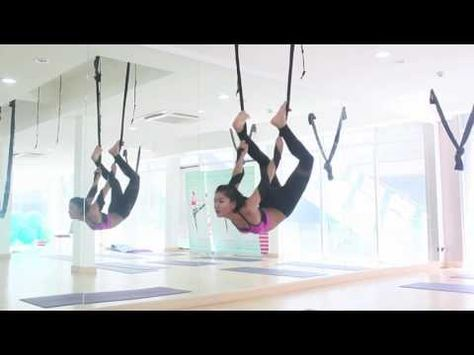 yoga fly flow with music  youtube  aerial yoga aerial