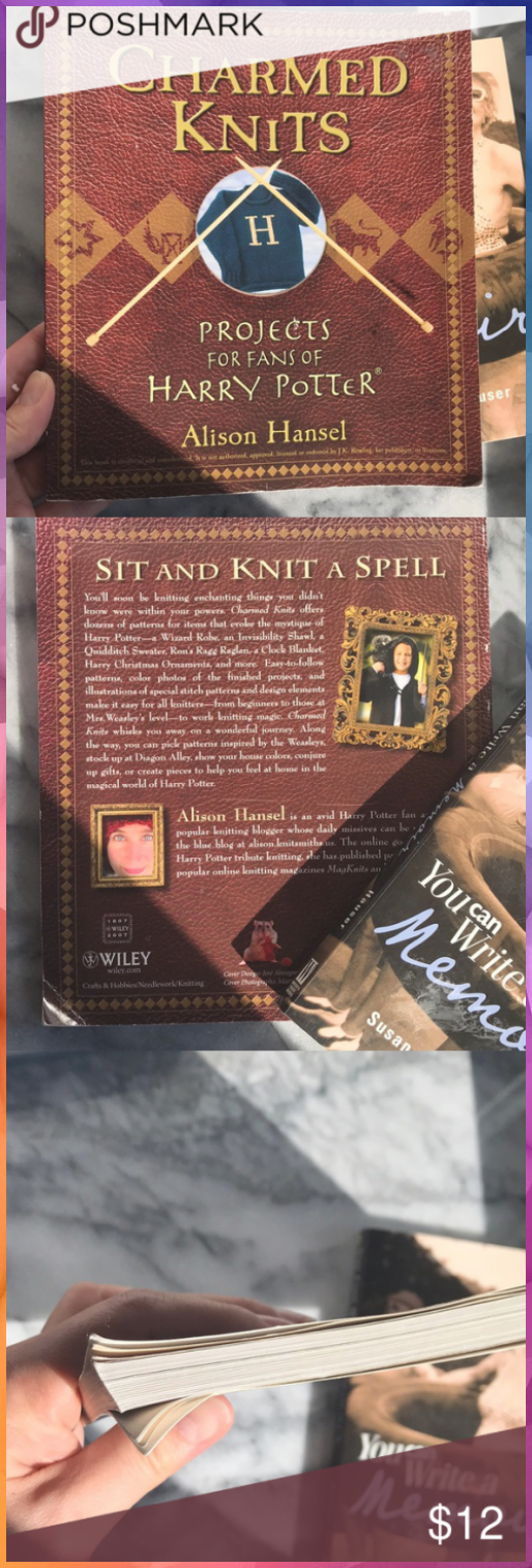 Photo of BOOK Charmed Knits Harry Potter REF20191499BINBOOK; Charmed Knits: Projects for …