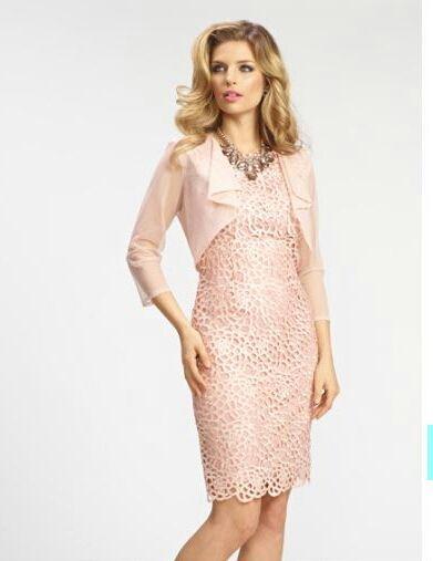 bbc0a995100 Blush Pink Dress and matching Bolero