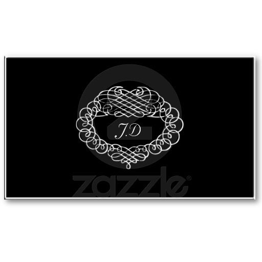 Simple black and white business card