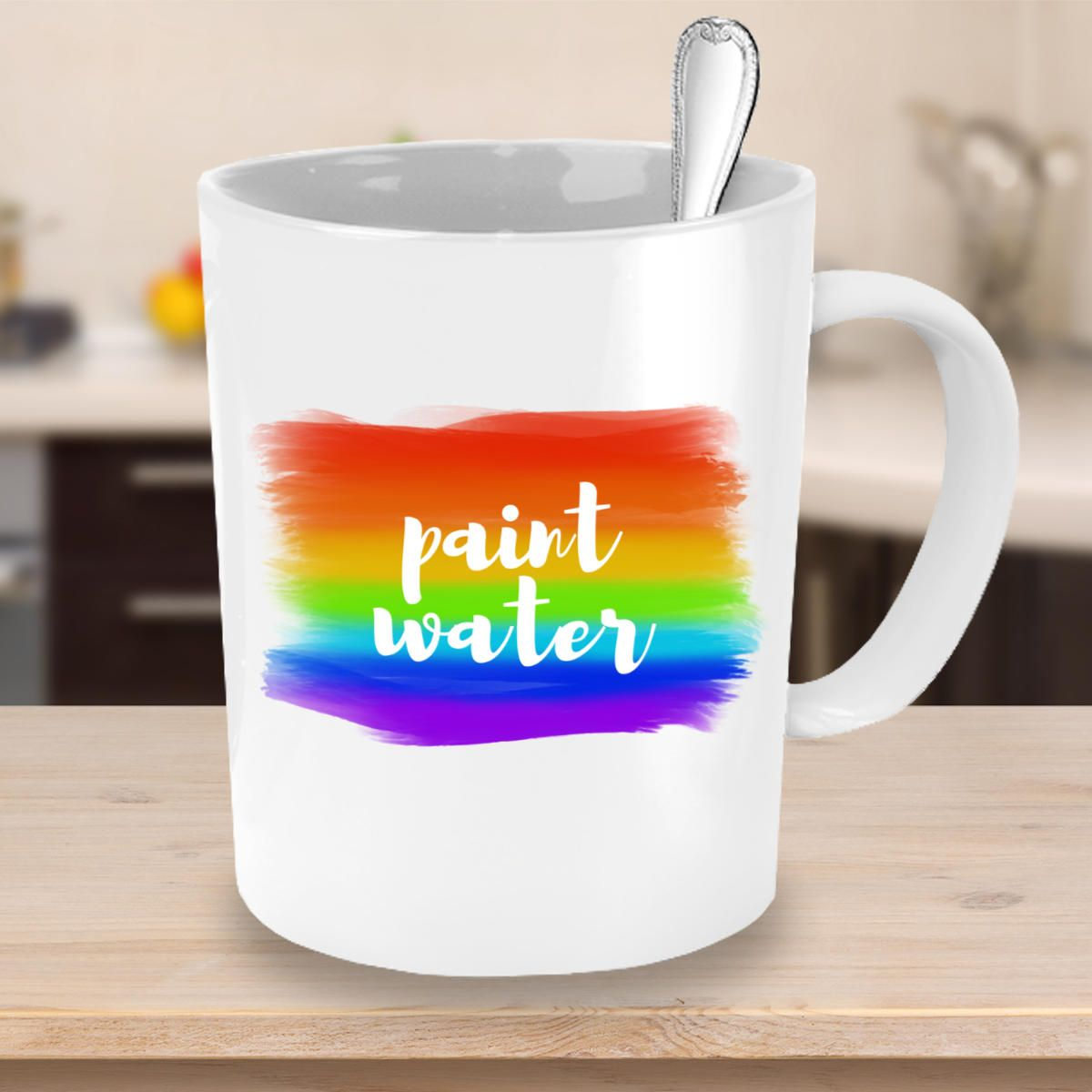 Paint Water Coffee Mug Rainbow Gifts For Painters Name Mugs
