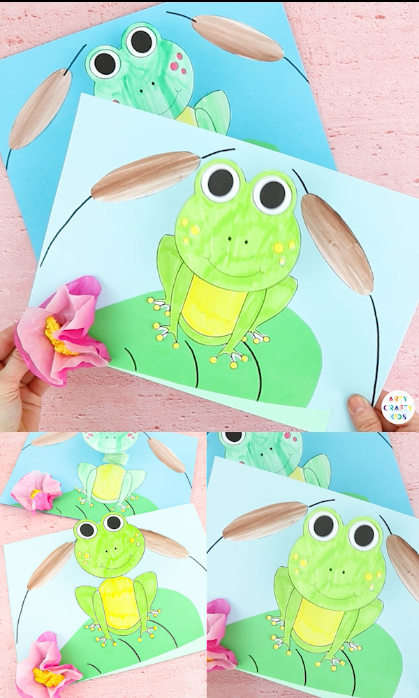 Photo of Bobble Head Frog Craft for Kids