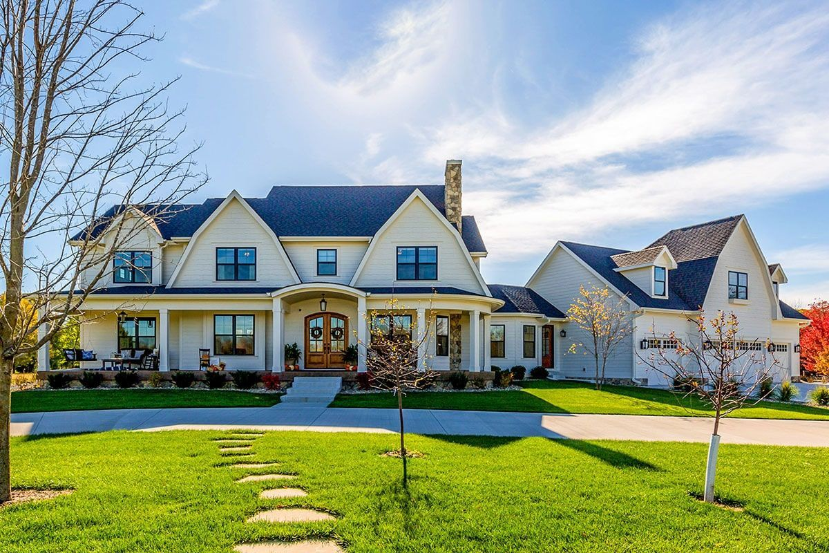 5 Bedroom Two Story Modern Farmhouse with Gambrel Roof Floor Plan