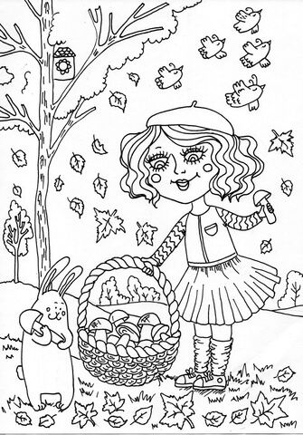 Peppy in September Coloring page   роспись, рисунки   Pinterest ...