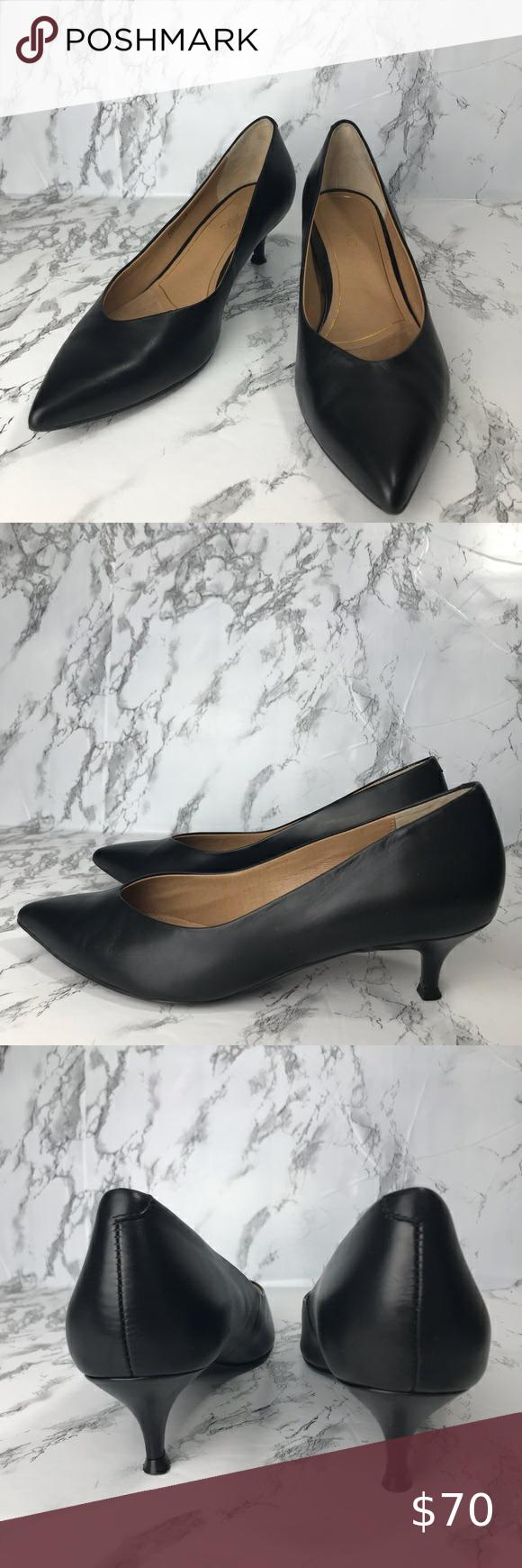 Vionic Josie Kitten Heel In Black In 2020 Kitten Heels Heels Shoes Women Heels