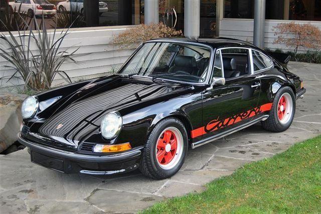 super car porsche 911 rs carrera 1973