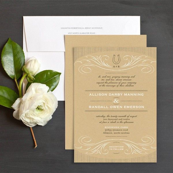 Carlson Craft Pocket Wedding Invitations: Lucky In Love Western Wedding Invitations By Elli