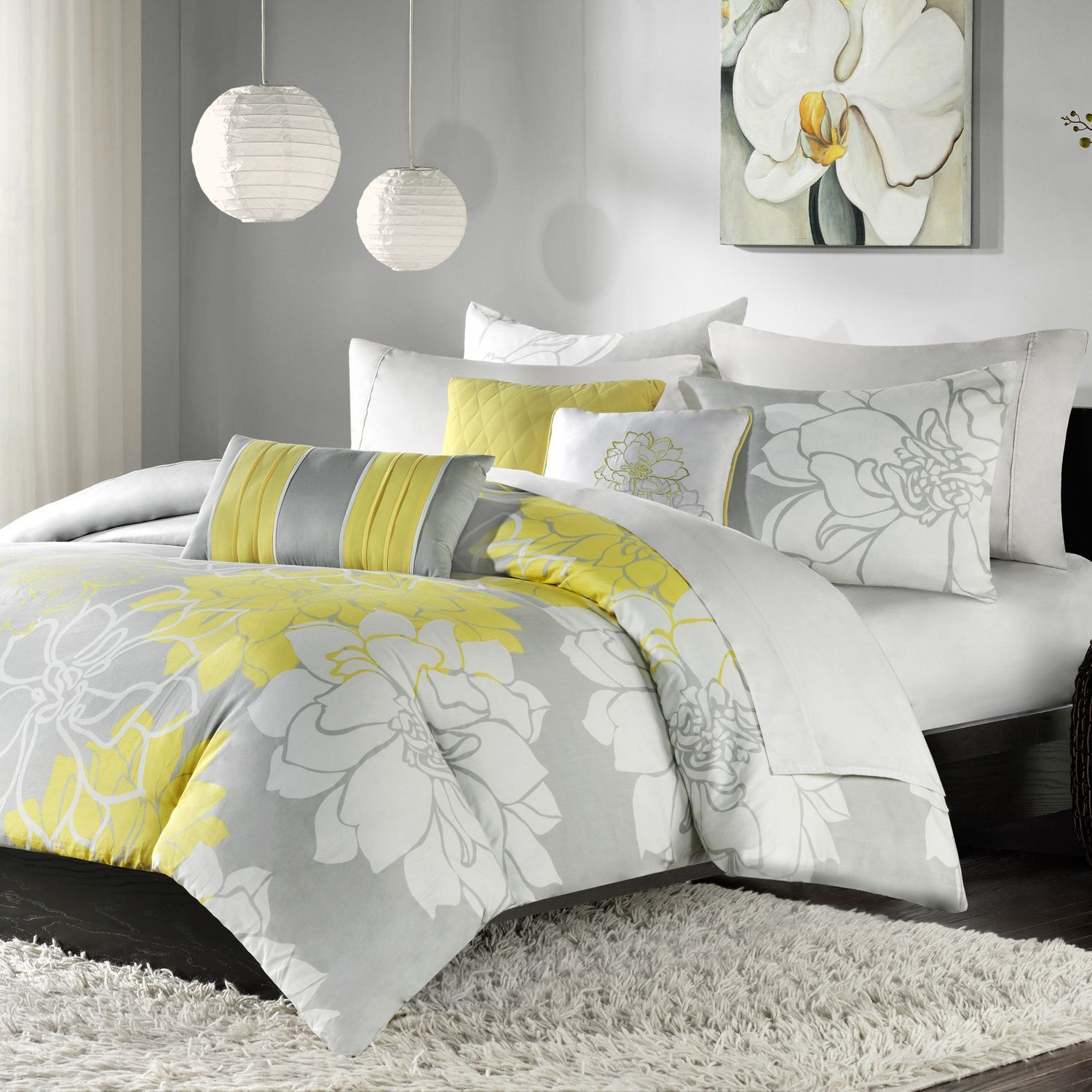 Madison Park Brianna Contemporary Printed Cotton Duvet Cover Set (King),