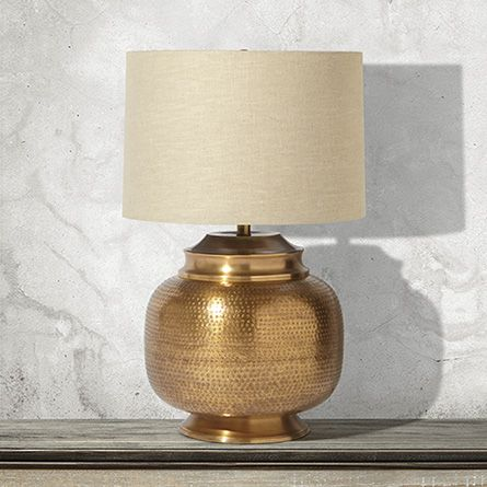 Arhaus orissa large brass table lamp with natural shade 18diam x arhaus orissa large brass table lamp with natural shade 18diam x 29h 299 aloadofball Choice Image