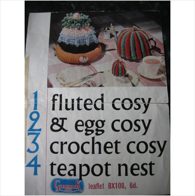 vintage Greenock crochet pattern 1234 fluted egg cosy