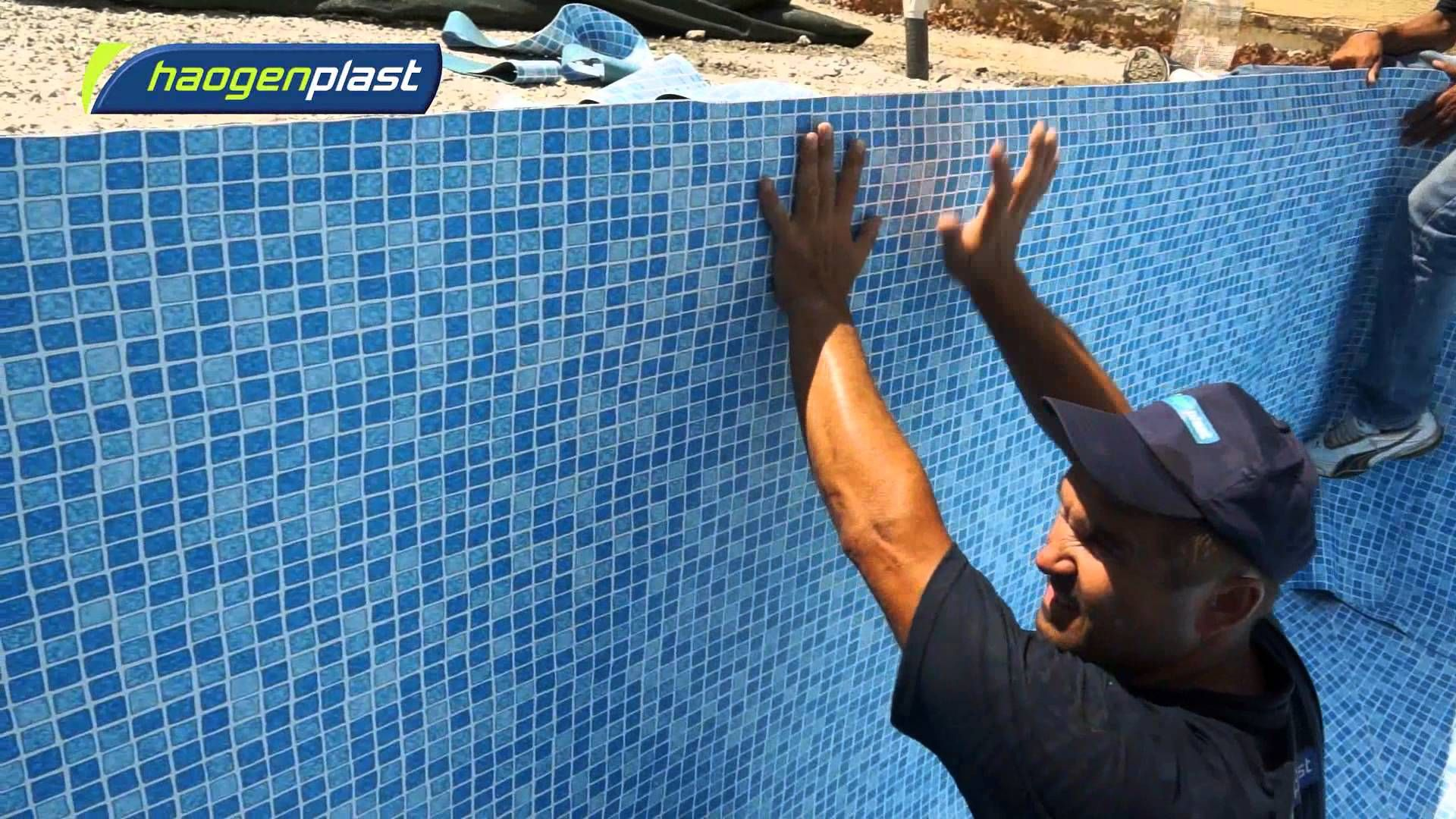 Installation of Agam swimming pool liners | MATERIALS & BUILDING ...