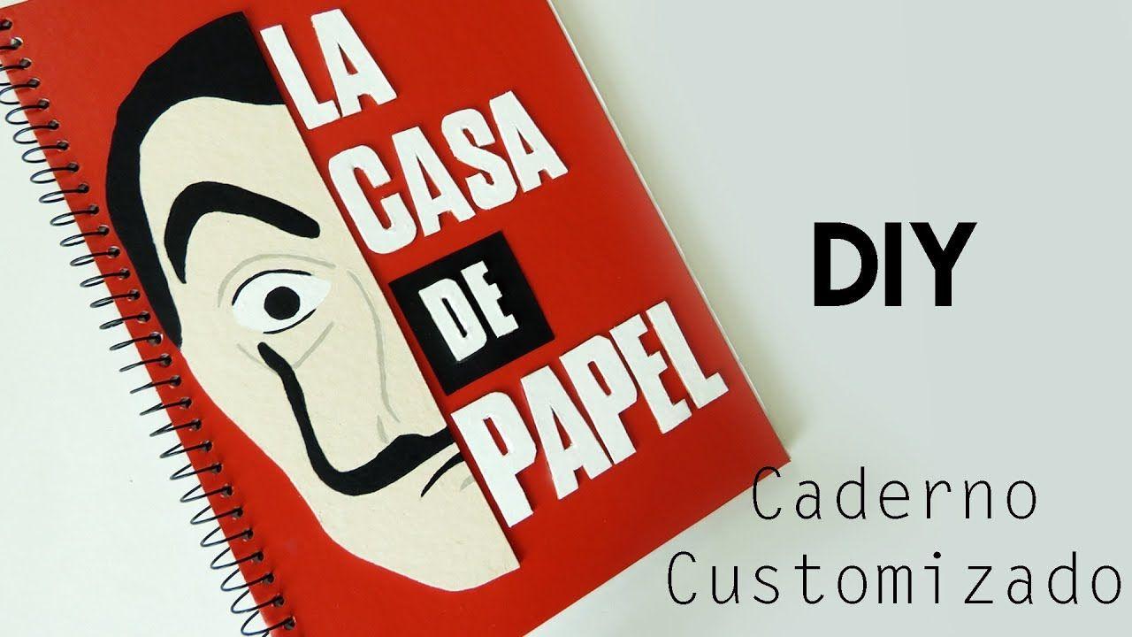 c943e18093 DIY  Como Fazer um Caderno personalizado LA CASA DE PAPEL - Tutorial Volta  as aulas geek  lacasadepapel