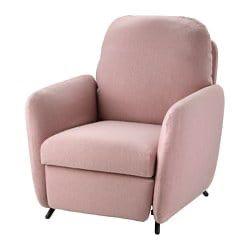 Ekolsund Recliner Gunnared Light Brown Pink Ikea Recliner Ikea Reclining Armchair