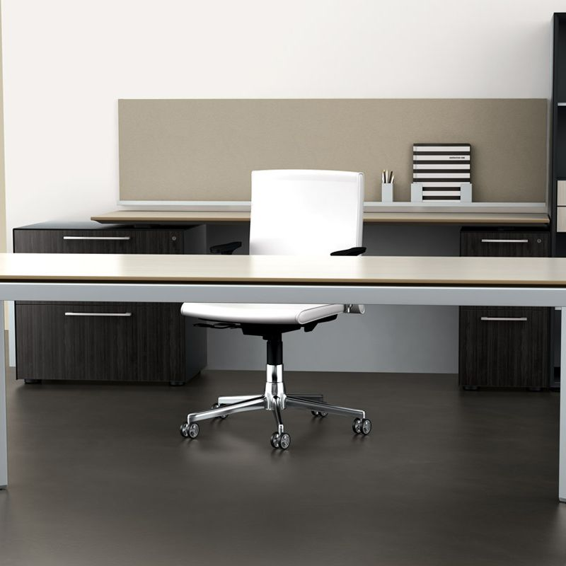 Miro provides a complete, easily specified desk with extensive surface shapes from rectangles to large corners.