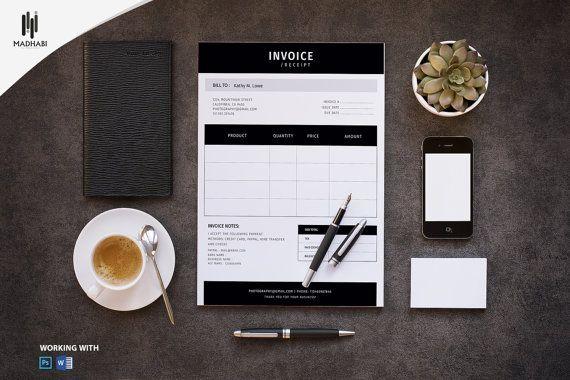 photographer invoice template invoice design receipt template editable photoshop and ms. Black Bedroom Furniture Sets. Home Design Ideas