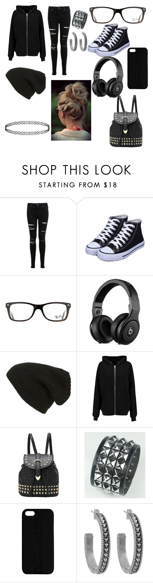 """""""Untitled #1"""" by donna-phelps ❤ liked on Polyvore featuring beauty, Miss Selfridge, Ray-Ban, Phase 3, BLK DNM, Maison Takuya and House of Harlow 1960"""