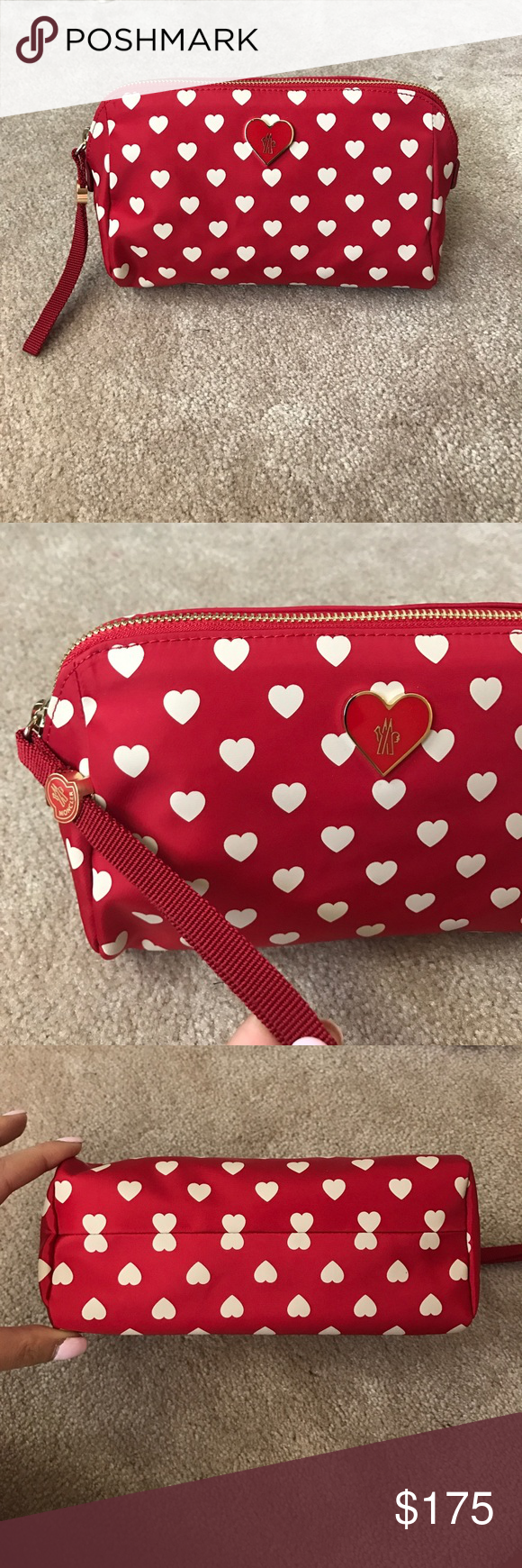 4d28c1dbcfde Moncler Heart Makeup Bag Brand new in dust bag with original tags. Adorable  heart print. Perfect size for everyday use. Moncler Bags Cosmetic Bags &  Cases