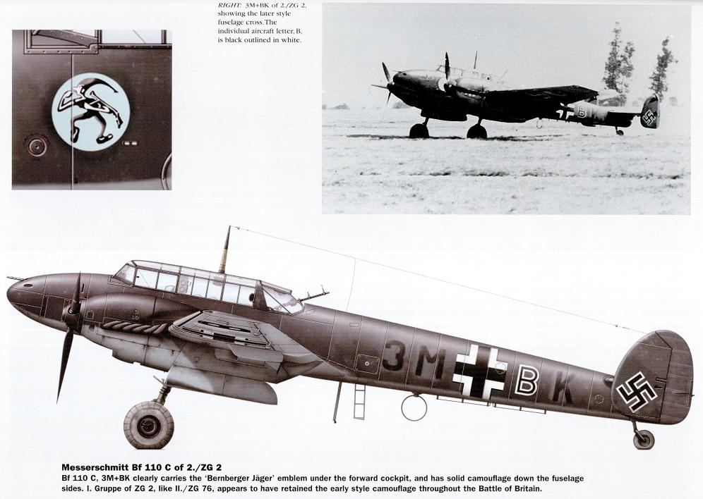 Bf110 C Самолеты Luftwaffe в годы второй мировой