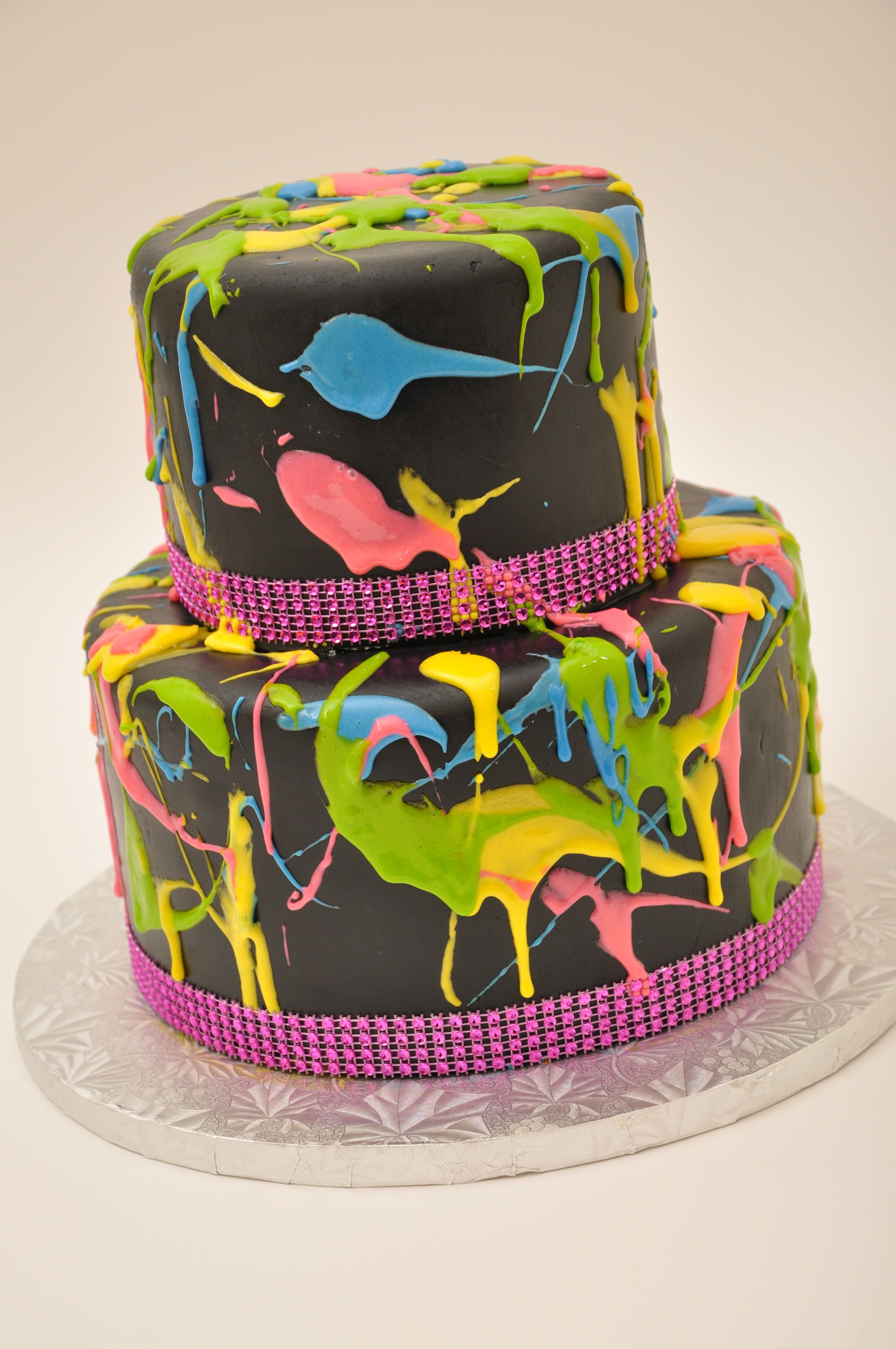 Bethel Bakery Splatter Paint Two Tier Birthday Designs Bethel
