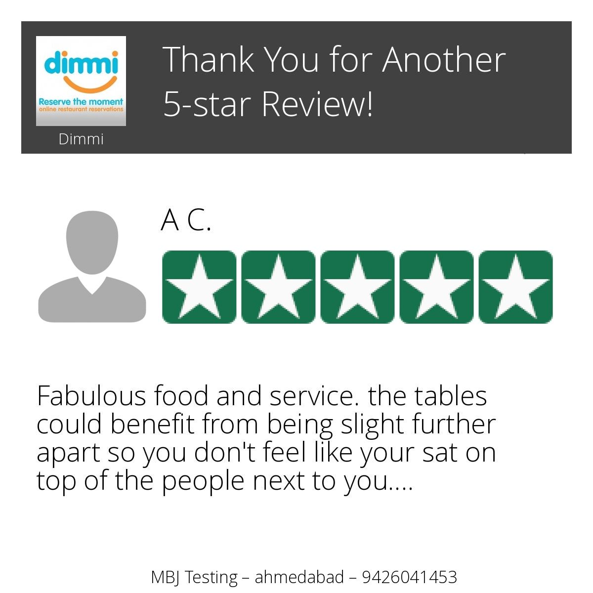 Wow! One of our customers just left on our Review Page a 5-star ... 2d505951e