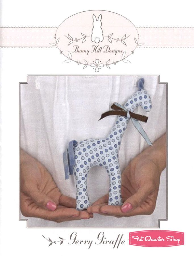Gerry Giraffe Stuffed Toy Sewing Pattern Bunny Hill Designs by Anne ...