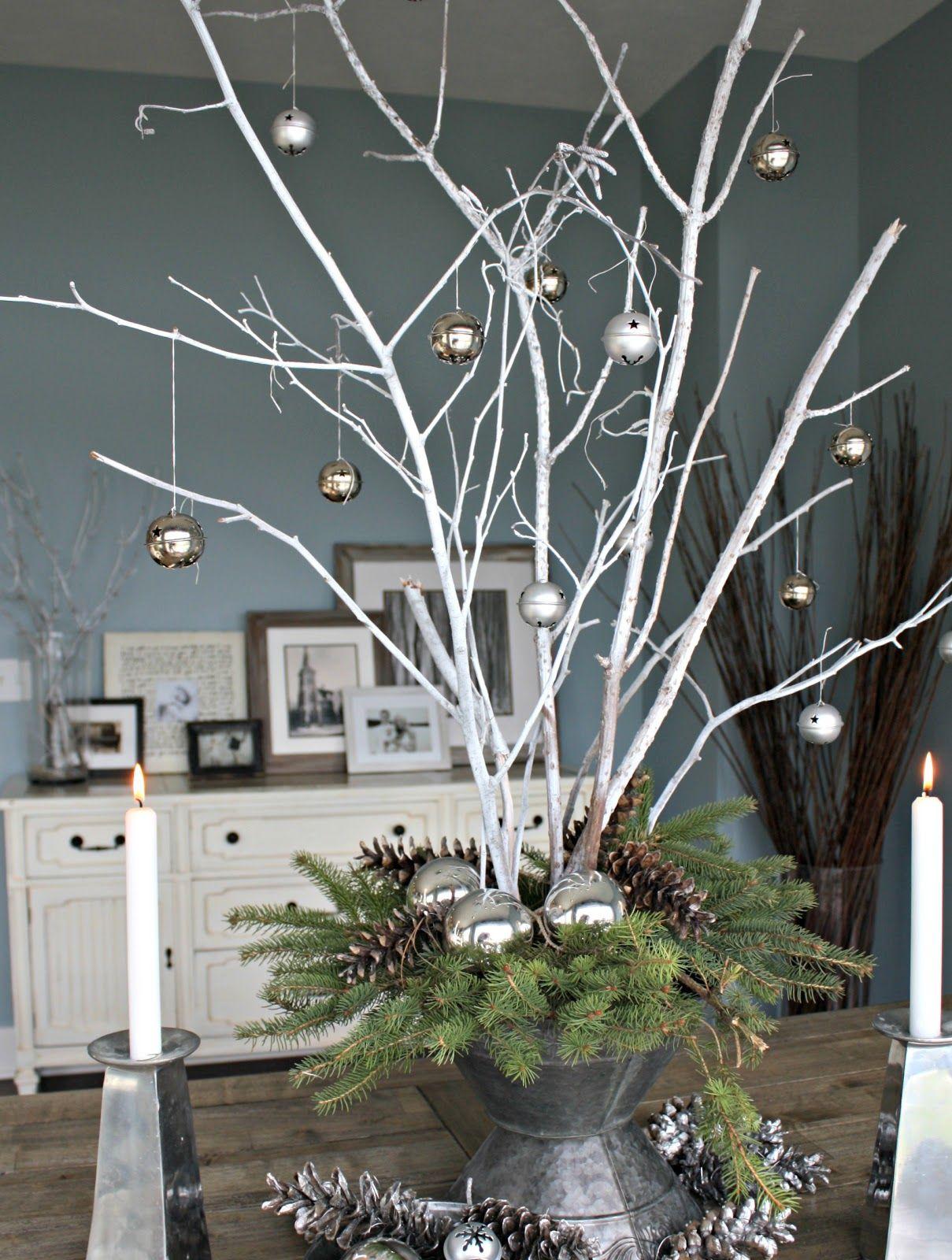 поделка из веток дерева на новый год