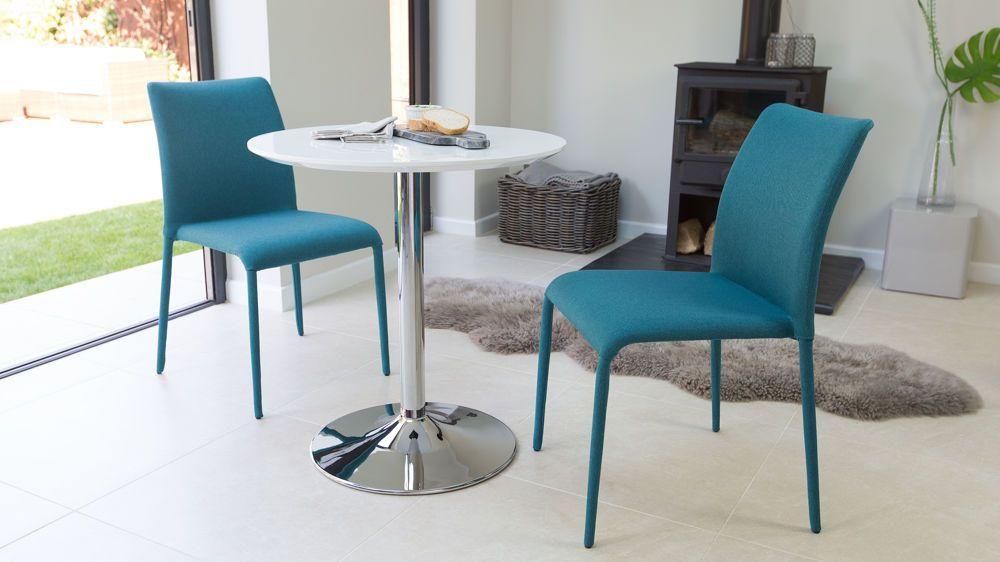 Modern White Gloss Round Kitchen Table