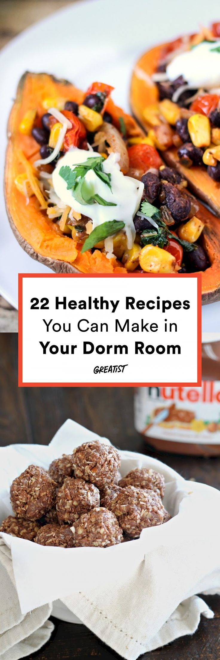 22 Healthy College Recipes You Can Make in Your Dorm Room -   16 healthy recipes For College Students schools ideas