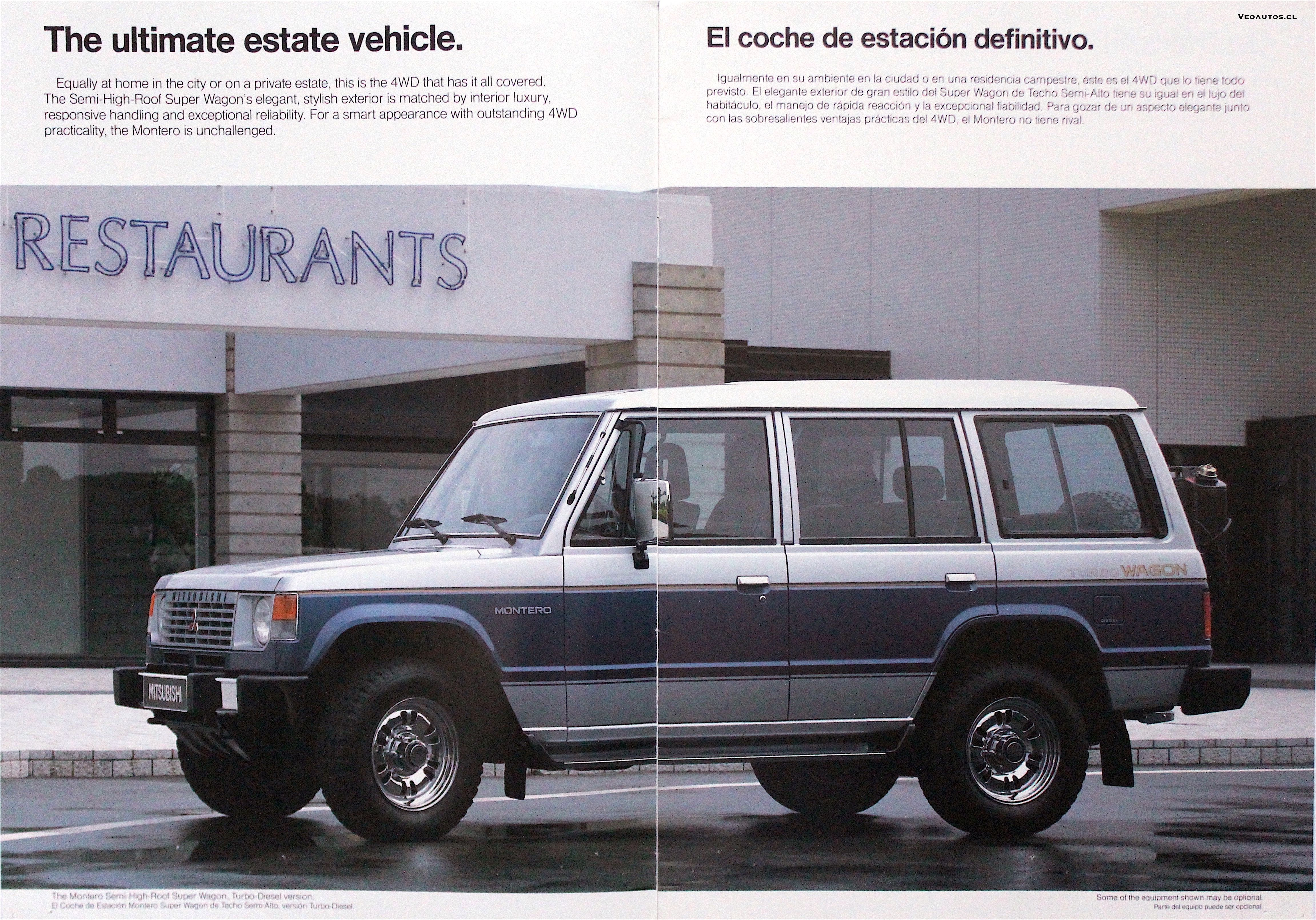 Mitsubishi Montero Catalogo 1989 Info Veoautos Cl En 2020 Todoterreno Autos Fotos Videos
