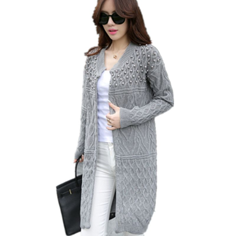 6da5d4951d 2017 Spring Autumn Fashion women Thick warm Open Stitch sweater Computer Knitted  womens cardigans sweater Coat