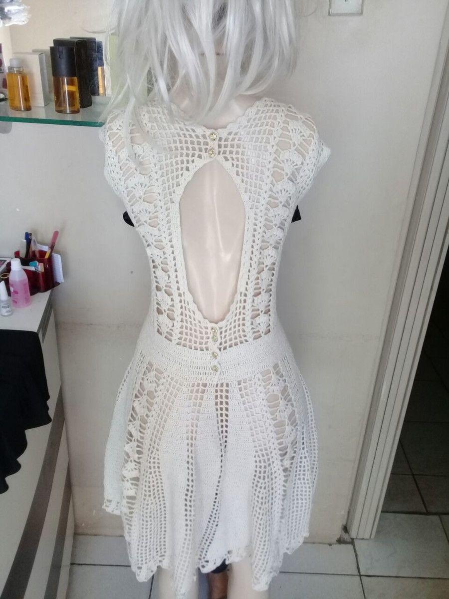 4cdbc5814 vestido de crochê no Elo7
