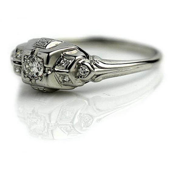 Photo of Antique Art Deco Diamond Engagement Ring
