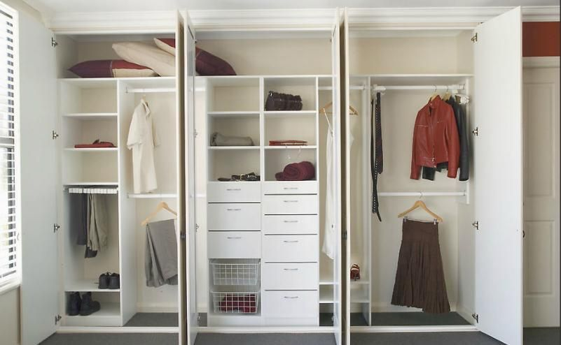 White Wardrobe Storage Cabinet With 4 Shelves And Panel Doors Modern Design Armoires & Wardrobes