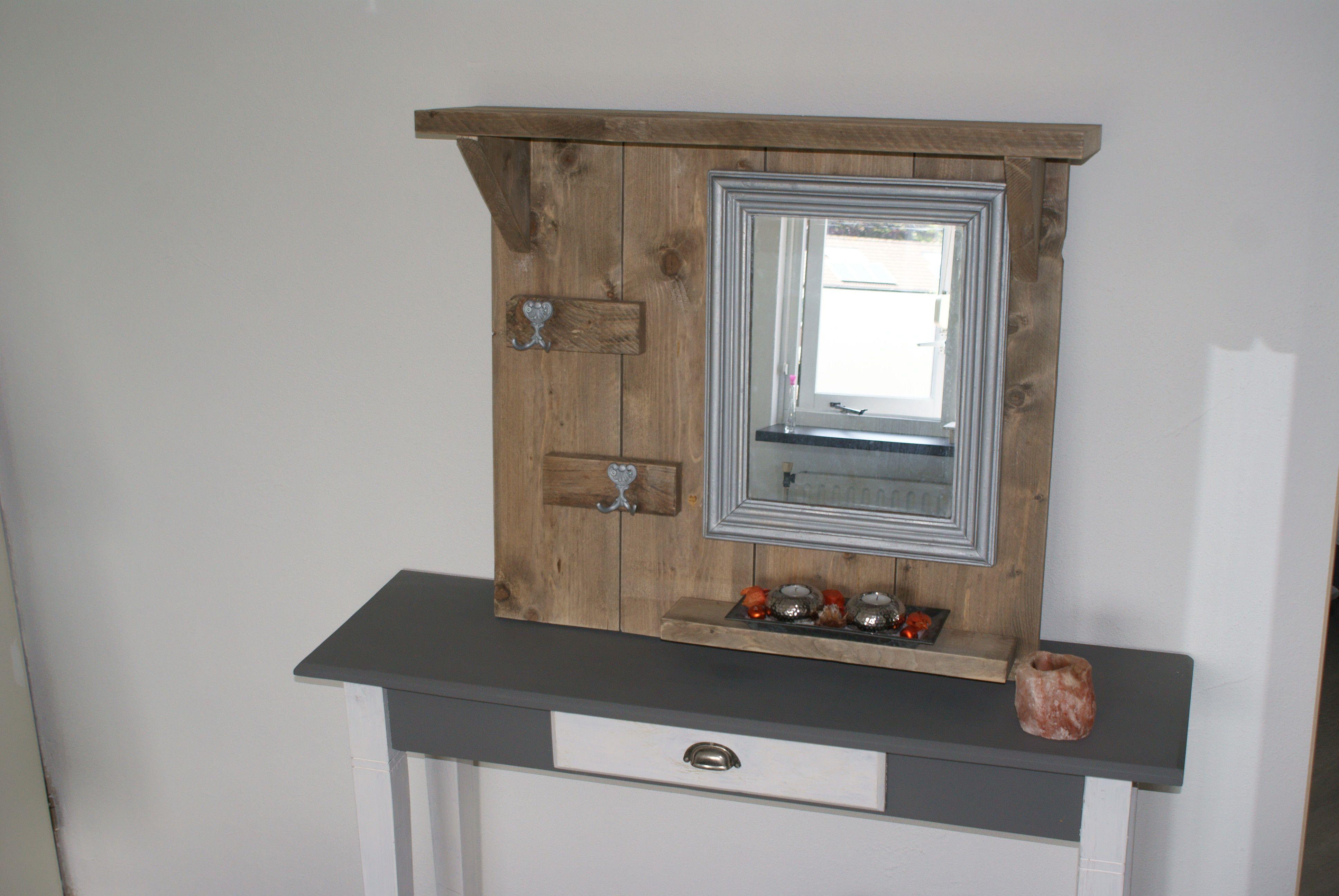 Spiegel Van Steigerhout : Wood ongeschuurde steigerhouten spiegel kunstspiegel