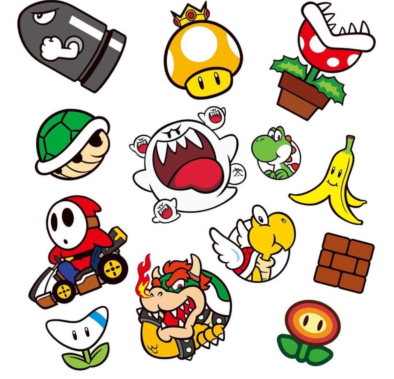 Super Mario World | Textil-Motiv in 2019 | Tattoo vorlagen ...