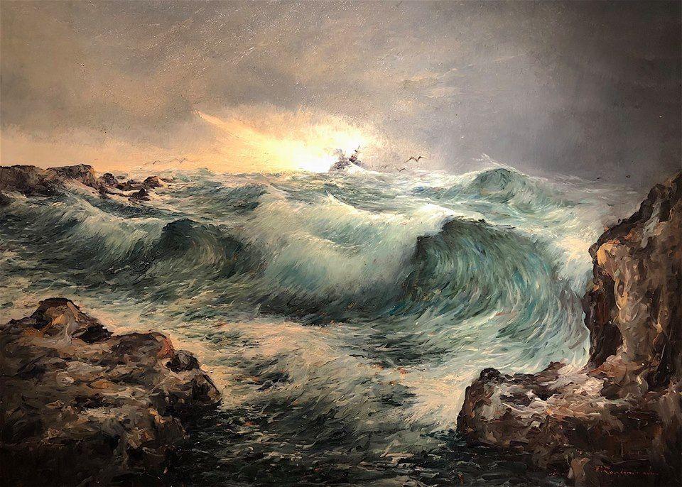Risultati immagini per quadri di mare in burrasca